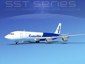 3d model 707-320 boeing 707 cargo