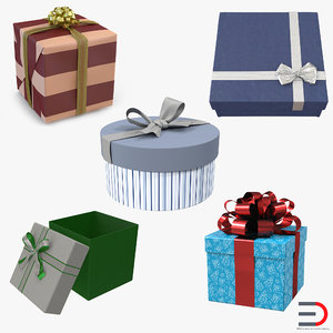 3d model of giftboxes set