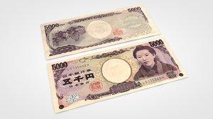 3d model 5000 yen
