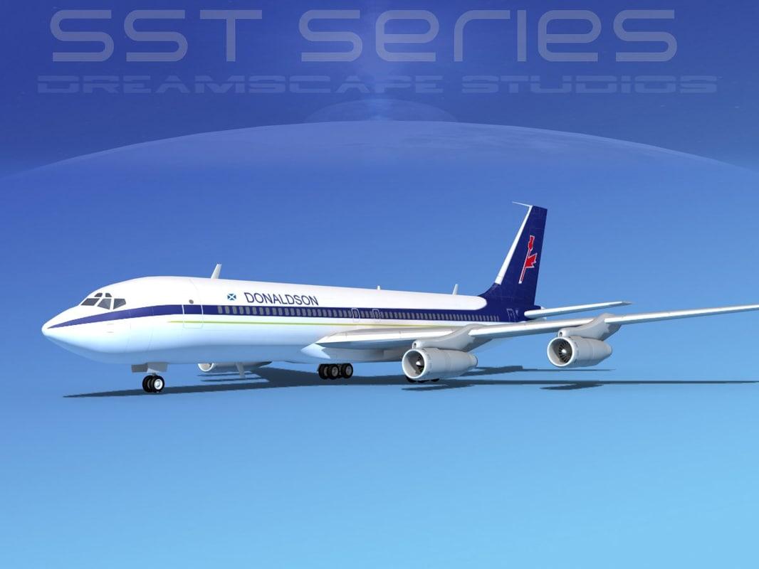 3d 707-320 boeing 707 model