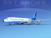 3d model of 707-320 boeing 707 cargo