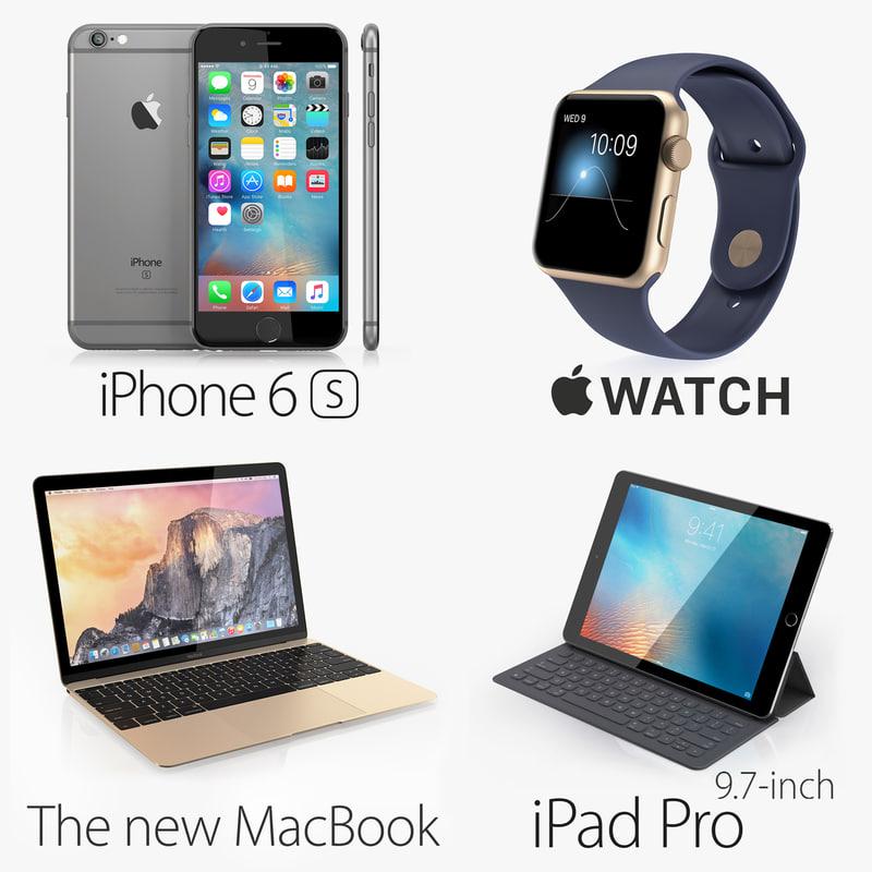 apple electronics 3d model