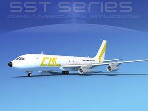 707-320 boeing 707 cargo 3ds