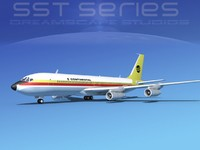 707-320 boeing 707 airliner 3d 3ds