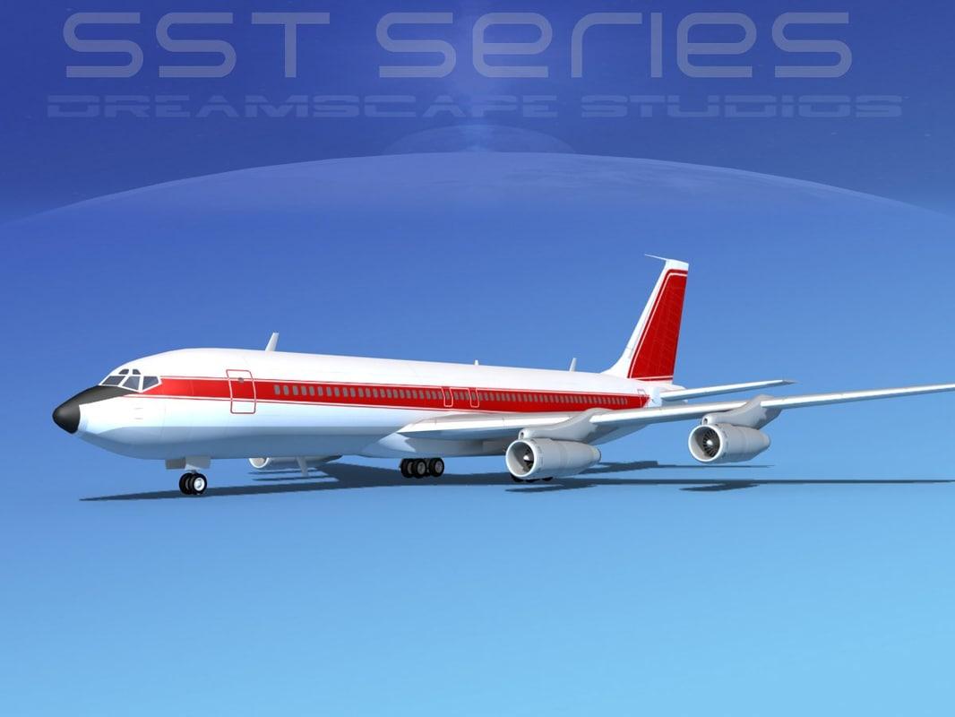 707-320 boeing 707 3d dwg