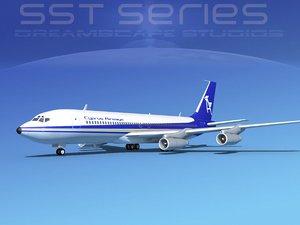 707-320 boeing 707 3d lwo
