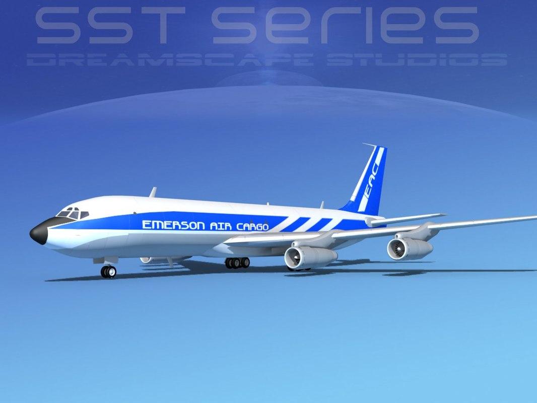 707-320 boeing 707 cargo 3d model