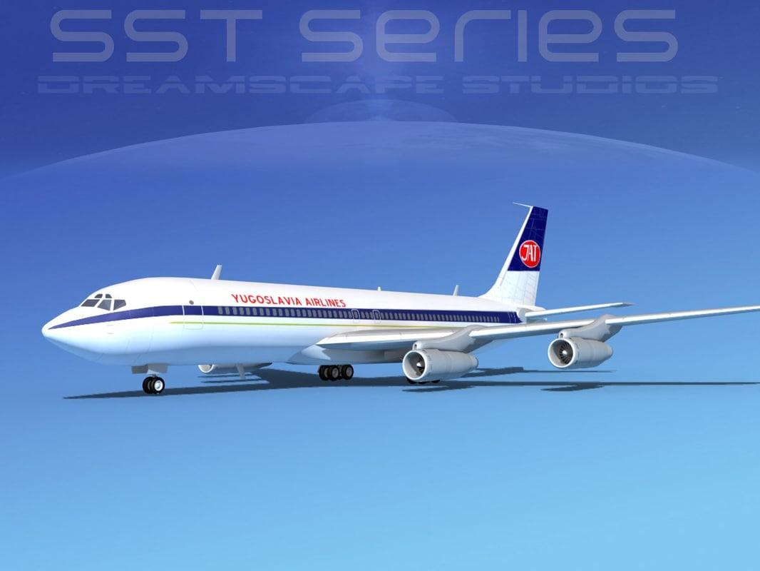 707-320 boeing 707 airliner 3d model