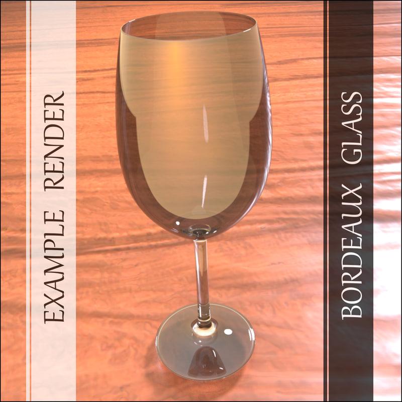 bordeaux glass 3d model