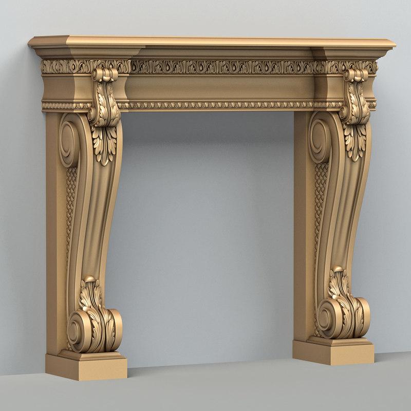 fireplace 001 3d max
