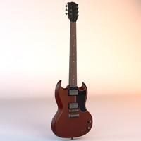 3d electric guitar model