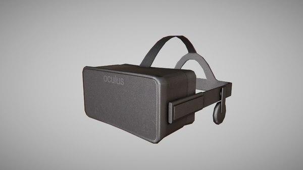 oculus rift 3d obj