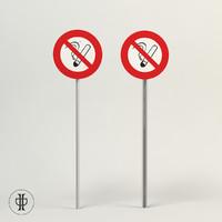 3d model sign smoking