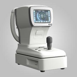 3d auto refractor keratometer model