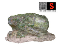 jungle rock 16k 3d obj
