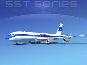 3d dwg 707-320 boeing 707