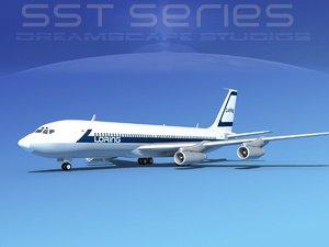 707-320 boeing 707 3d max