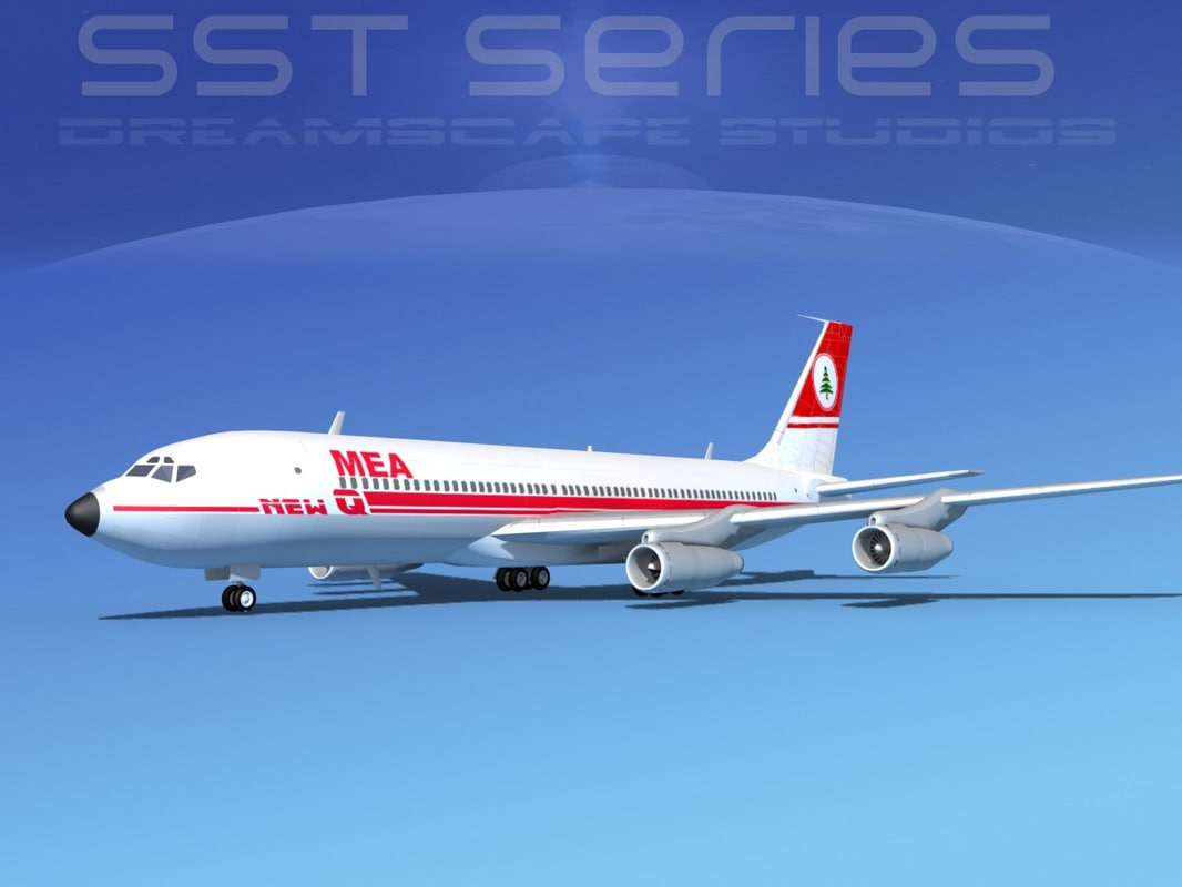 707-320 boeing 707 airliner 3d max