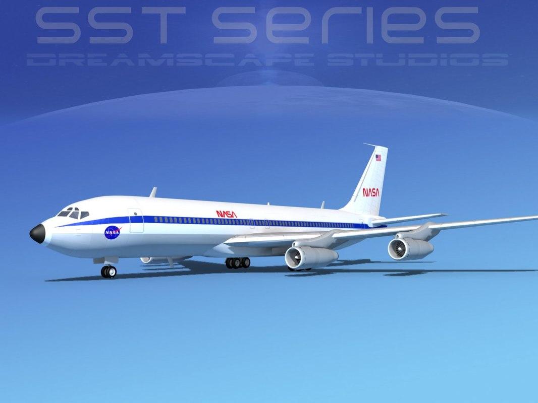 707-320 boeing 707 3d 3ds