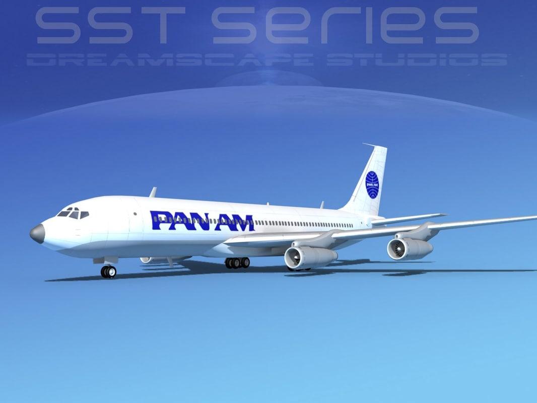 3ds 707-320 boeing 707
