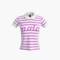3d polo shirt women