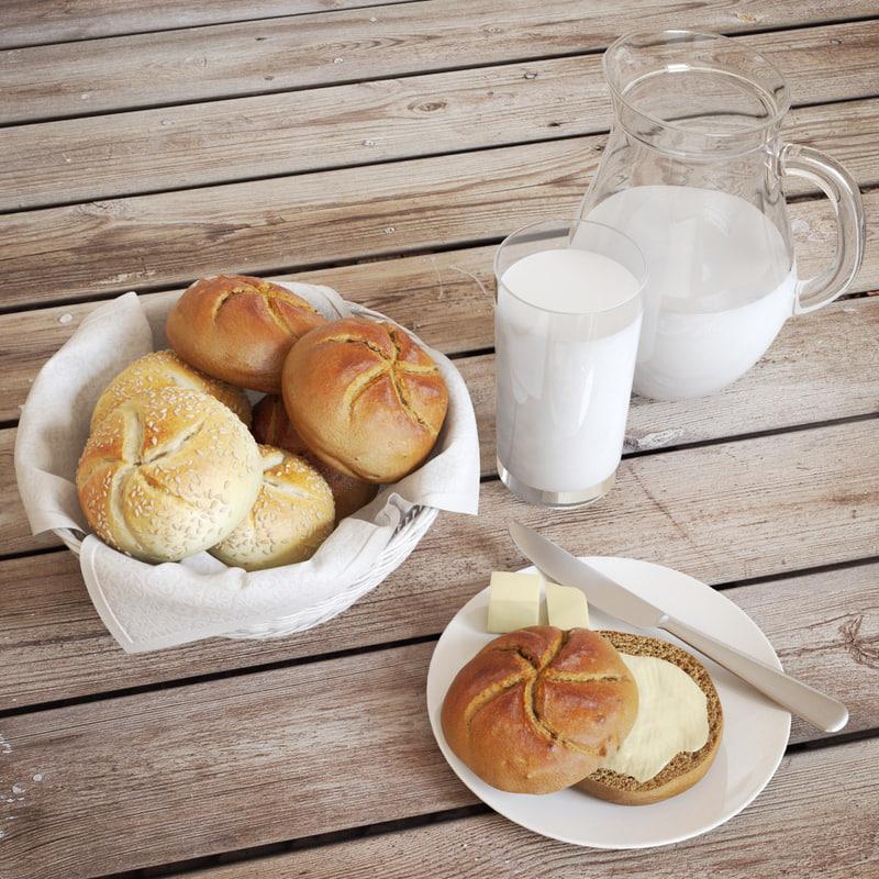 3d buns milk