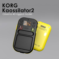 kaossilator 2 rigged 3d model
