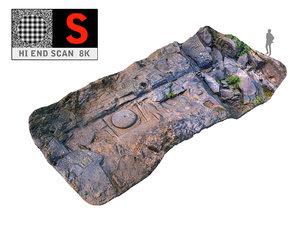 3d model ancient riverbed