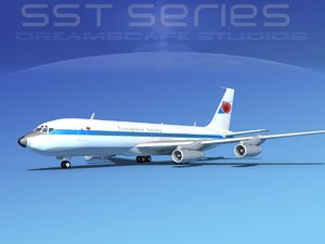 3d max 707-320 boeing 707
