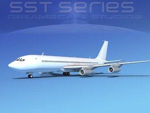 707-320 boeing 707 3d x