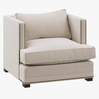 3d restoration hardware easton upholstered