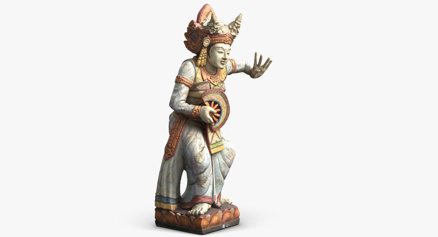 3d statue bali dancer 1