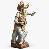3d model statue bali dancer 1