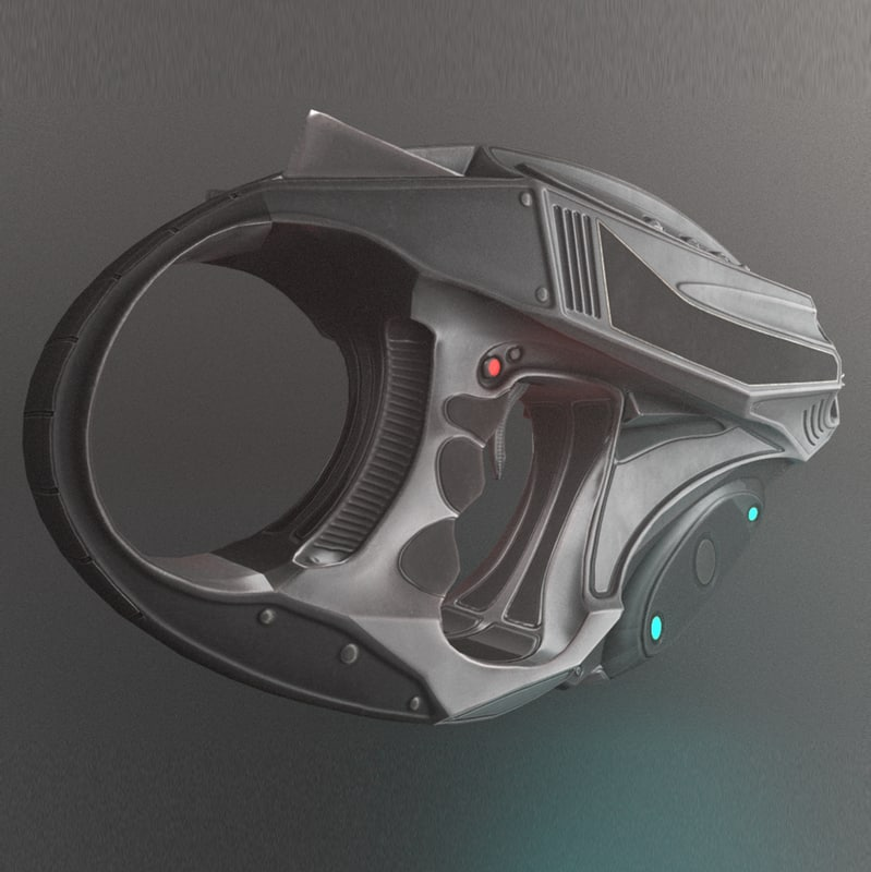 3d model sci-fi weapon