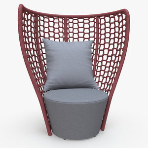 faye bay beach chair 3d obj