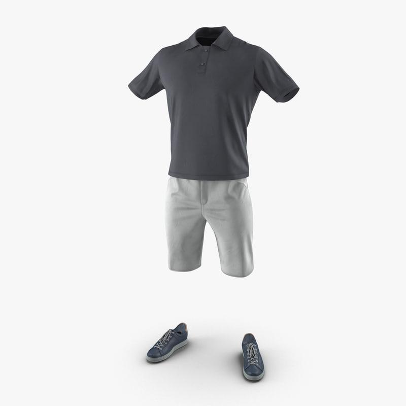 3d mens casual clothes 3