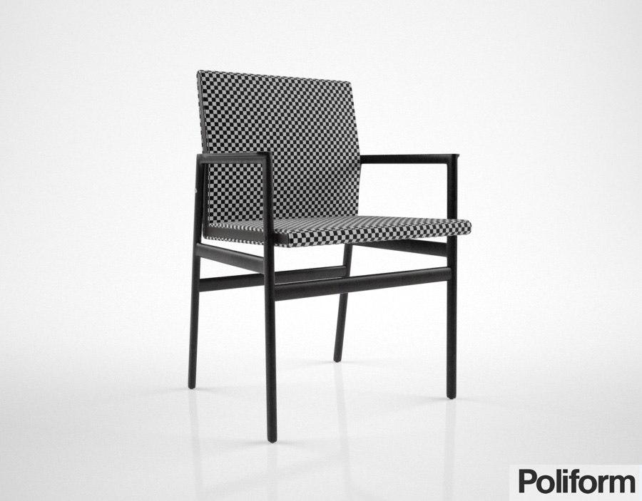 poliform ipanema chair 3d max