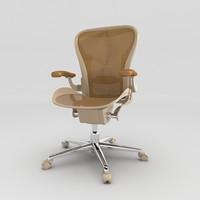 brown arm chair obj