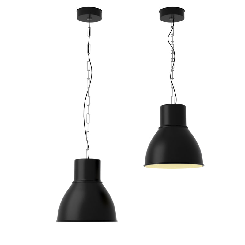 ikea hektar hanging lamp 3d model. Black Bedroom Furniture Sets. Home Design Ideas