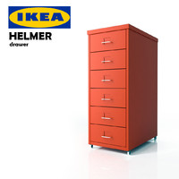 3d ikea helmer drawer