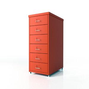 3d ikea helmer drawer