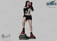 3d final fantasy 7 tifa model