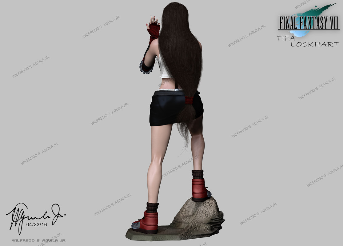 Tifa lockhart 3d model