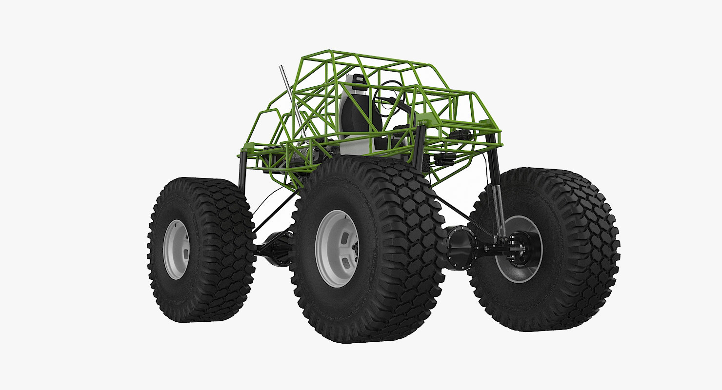 monster truck chassis 3d model