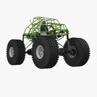 monster truck chassis 3d model