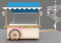 3d model ice cream cart