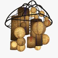 Basket Chandelier