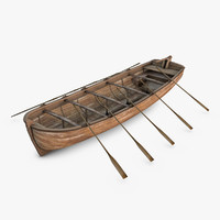 historic longboat 3d 3ds