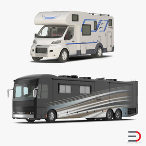 3d model motorhomes american recreation