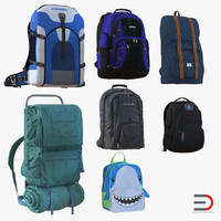 Backpacks 3D Models Collection 3
